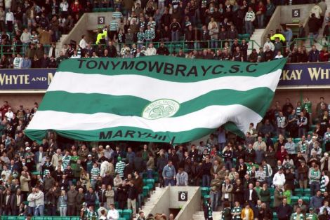 Tony Mowbray CSC banner in ground